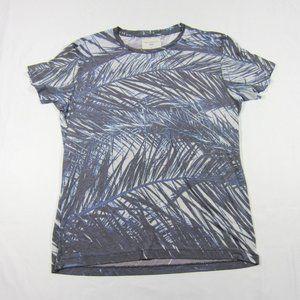 Sol Angeles Grey Printed Palm Print Thin T-shirt L